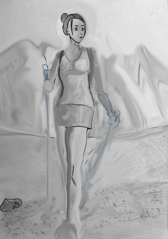 Jeune femme à la montagne - Suite Dessin10