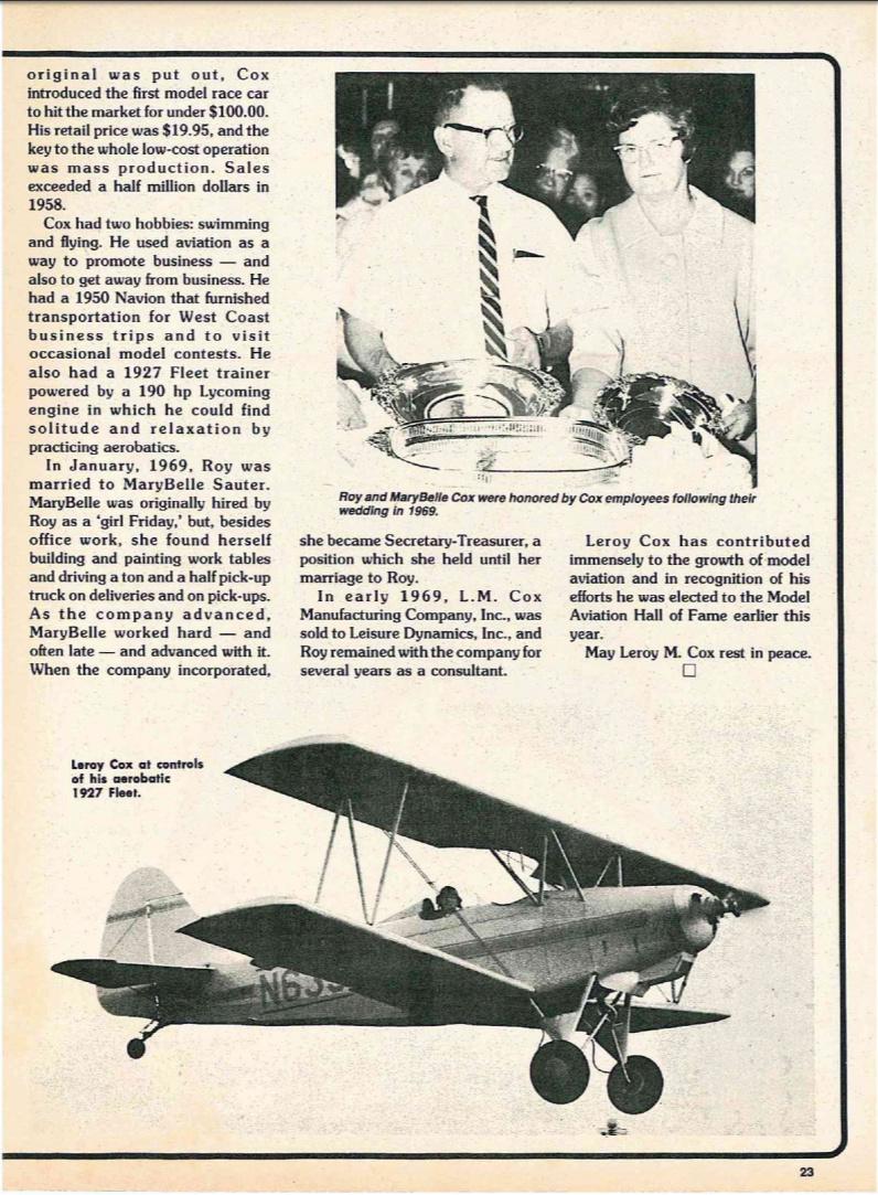 Leroy Cox in RCM magazine  Rcm_1910