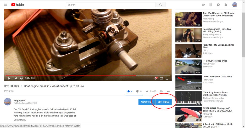 """Cox engine """"video"""" of the month Youtub12"""