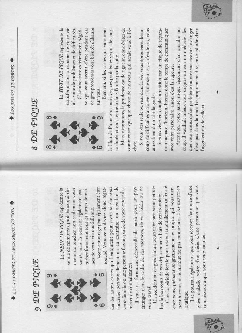 """livre """" votre avenir révélée par la cartomancie """"  9_et_812"""