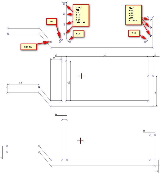 renforts métalliques - 2 places châssis court Renfor10