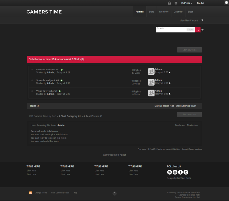 IPB Gamers Time by Red Gt210