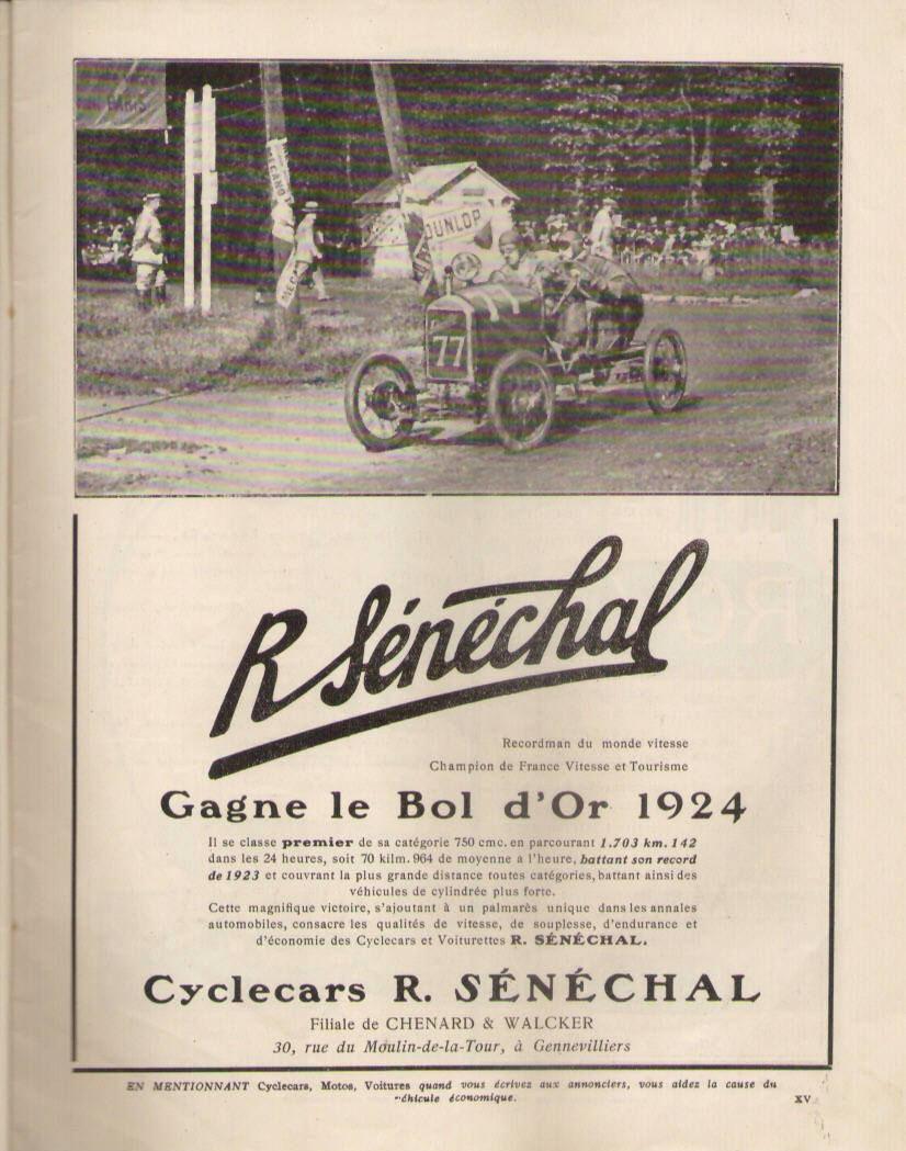 Senechal cyclecar - Page 4 1924_s10