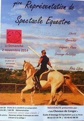 Guérande - Dimanche 2 Novembre - Spectacle equestre Affich10