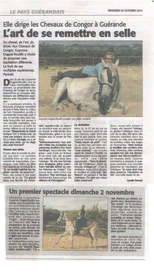 Guérande - Dimanche 2 Novembre - Spectacle equestre Articl10