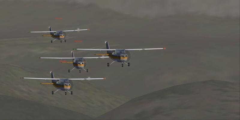 La patrouille en folie version Cessna 110