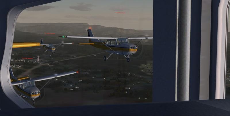 La patrouille en folie version Cessna 310