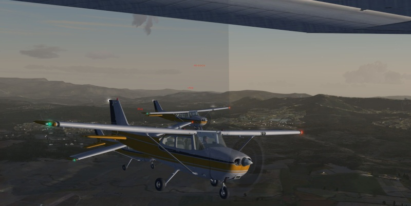 La patrouille en folie version Cessna 410