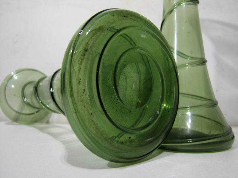 Pair of green trailed vases  Powell/ Whitefriars or not ?? Pair_013