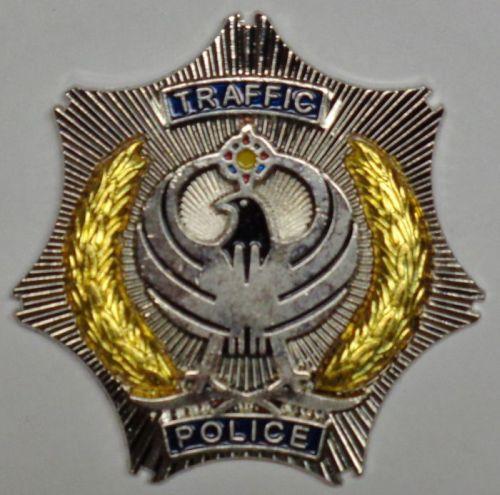 Kurdistan Traffic Police Hat Badge Traffi13