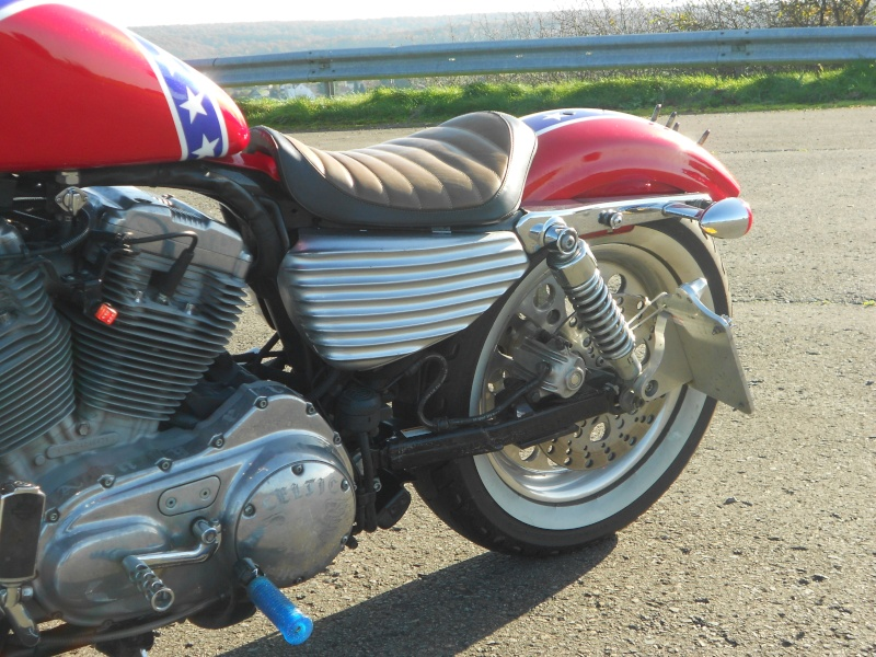 CACHES LATERAL RIBBED POUR SPORTSTER 2004 ET UP. Dscn0921