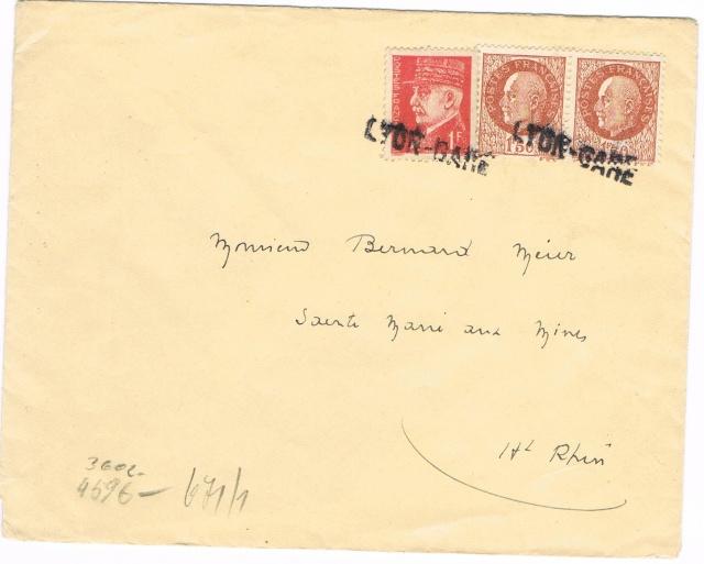 Lettre pour  l'Allemagne avec la  griffe « LYON-GARE » Ccf05011