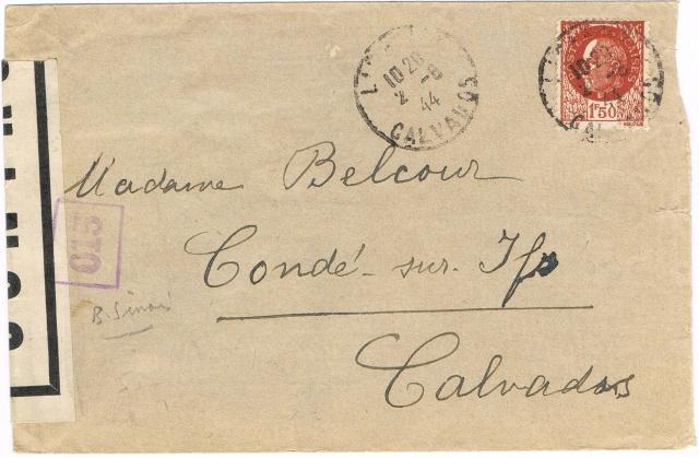 1944 une lettre contrôlée par la censure Ccf09010