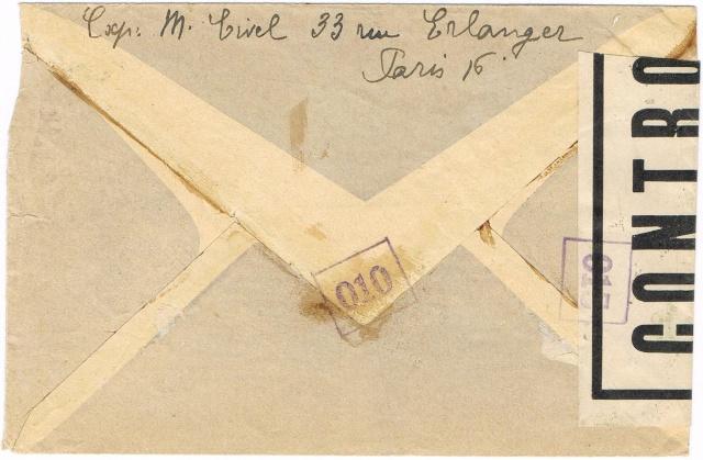 1944 une lettre contrôlée par la censure Ccf09011
