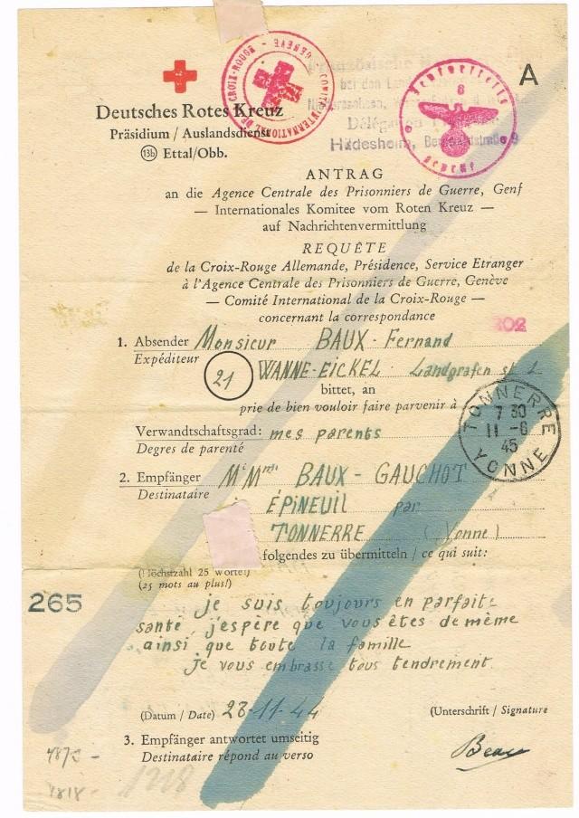Tarif postal du 25 aout 1944 du Reich vers la France - méconnu des guichetiers et du peuples ?? Ccf11013