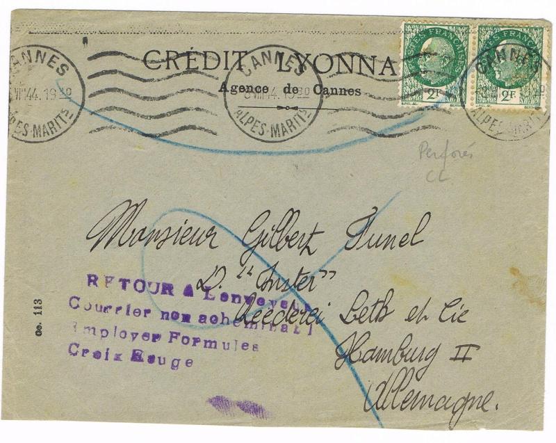 Tarif postal du 25 aout 1944 de la France vers le Reich - méconnu des guichetiers et du peuple ?? Ccf11015