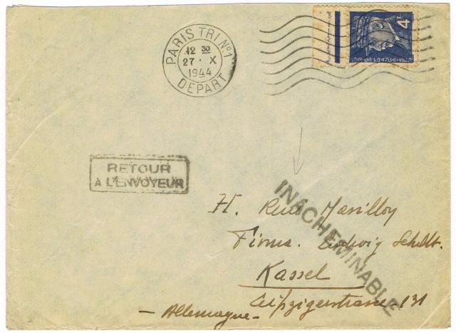 Tarif postal du 25 aout 1944 de la France vers le Reich - méconnu des guichetiers et du peuple ?? Ccf11016