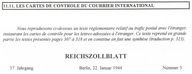 Lettres recommandées des STO ne sont plus admises par la censure de Francfort/M (e) (suite) Ccf22115