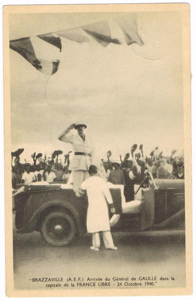 CARTE FAFL DE GAULLE envoyée de MAYUMBA 1943 Ccf27010