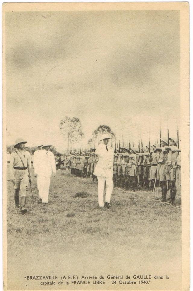 CARTE FAFL DE GAULLE envoyée de MAYUMBA 1943 Ccf27015