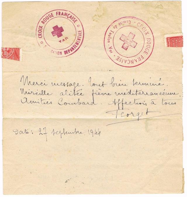 1944 une lettre contrôlée par la censure Ccf30013