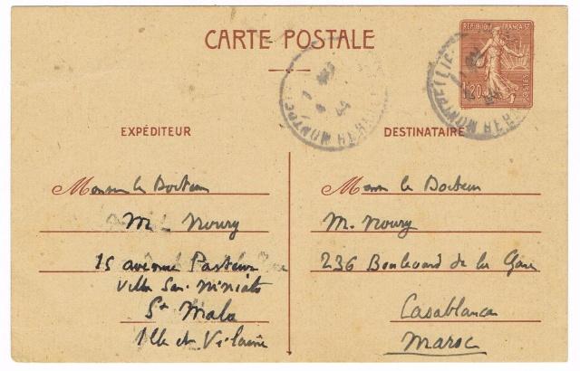 Reprise des relations postales avec les colonies sauf l'Indochine Ccf30016