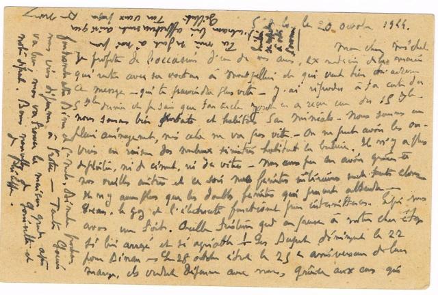 Reprise des relations postales avec les colonies sauf l'Indochine Ccf30017