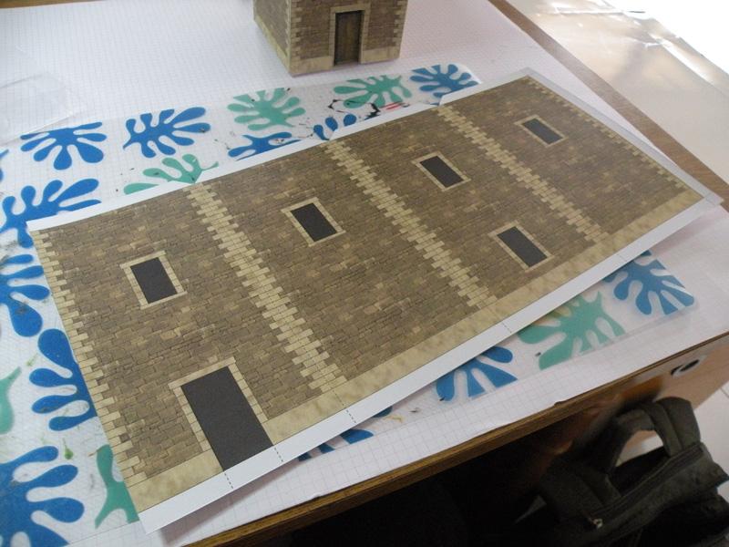 décor carton pour battel T110