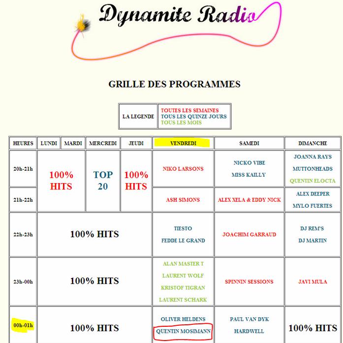 {(04/09/2014)}  Dynamite Radio -grille des programmes Messa697
