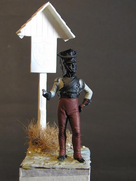 Trompette de Artillerie a cheval, Duchè de Varsovie, 1809 Ground12