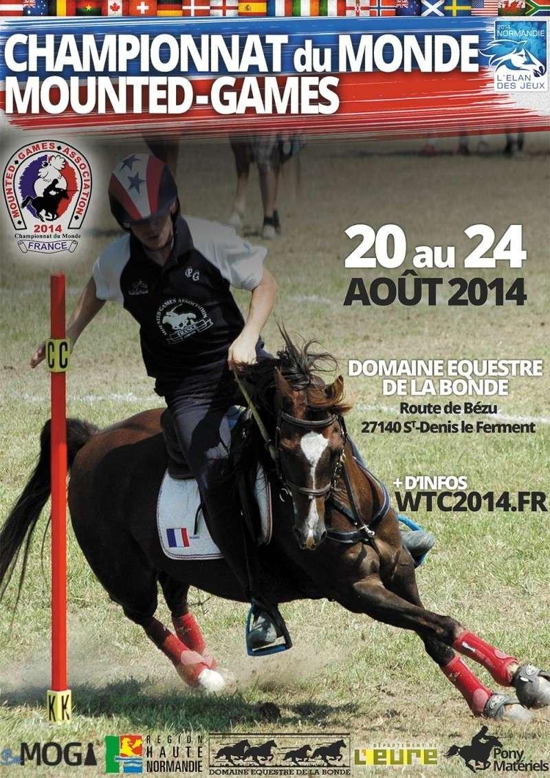 Championnat du monde de pony-games du 20 au 24 août 2014 près de Gisors (Normandie) Affich17