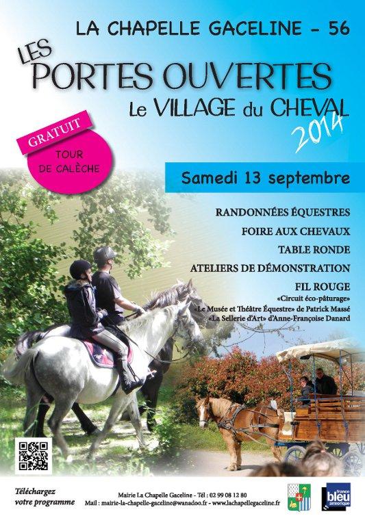 Porte ouverte au village du cheval - La Chapelle Gaceline - Les 12 et 13 septembre 2014 Affich20