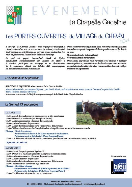Porte ouverte au village du cheval - La Chapelle Gaceline - Les 12 et 13 septembre 2014 Portes10