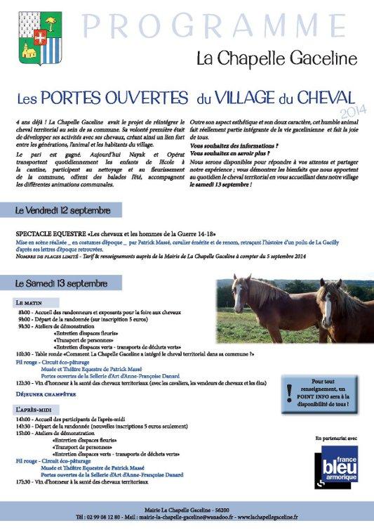 Porte ouverte au village du cheval - La Chapelle Gaceline - Les 12 et 13 septembre 2014 Portes12