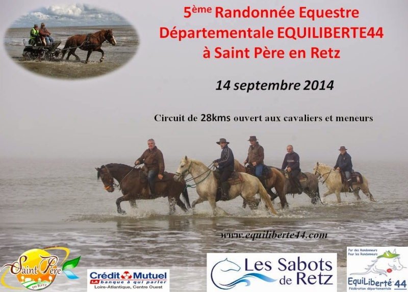 Randonnée équestre départementale EQUILIBERTE 44 à Saint Père en Retz le 14 septembre 2014 Rando_12