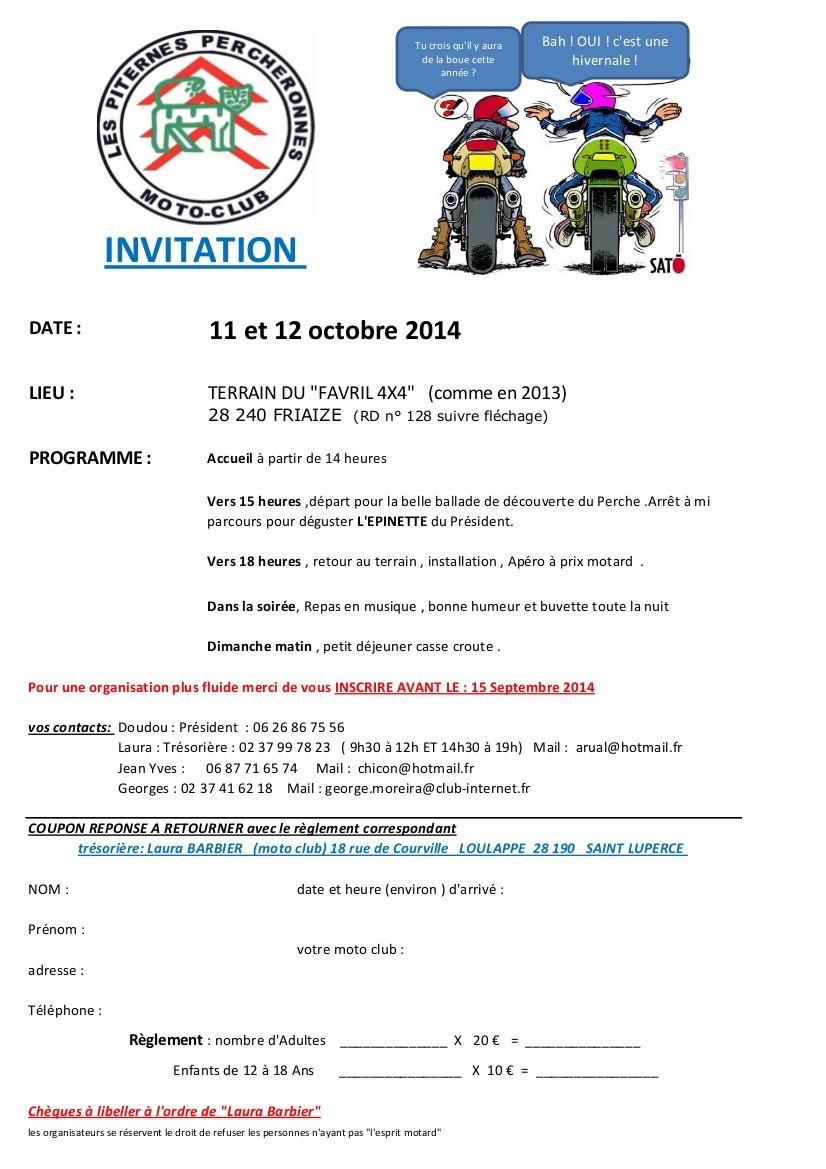 Rassemblement a Friaize(28) 11 et 12 10 2014 Invita10