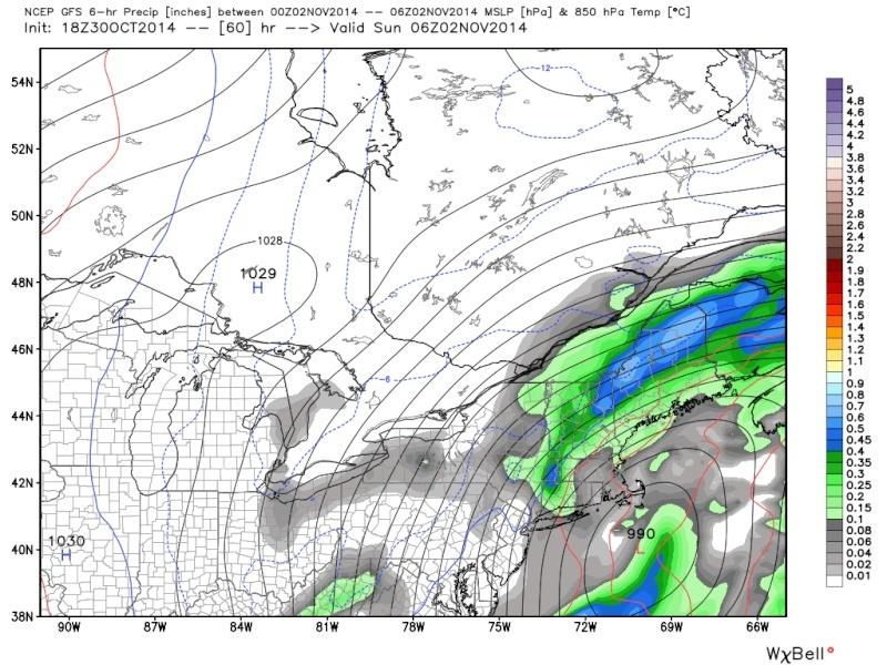 Possible November 1st Coastal Storm Thread 1 - Page 9 18z_gf13