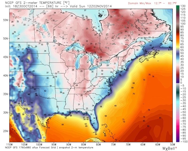 Possible November 1st Coastal Storm Thread 1 - Page 9 18z_gf14