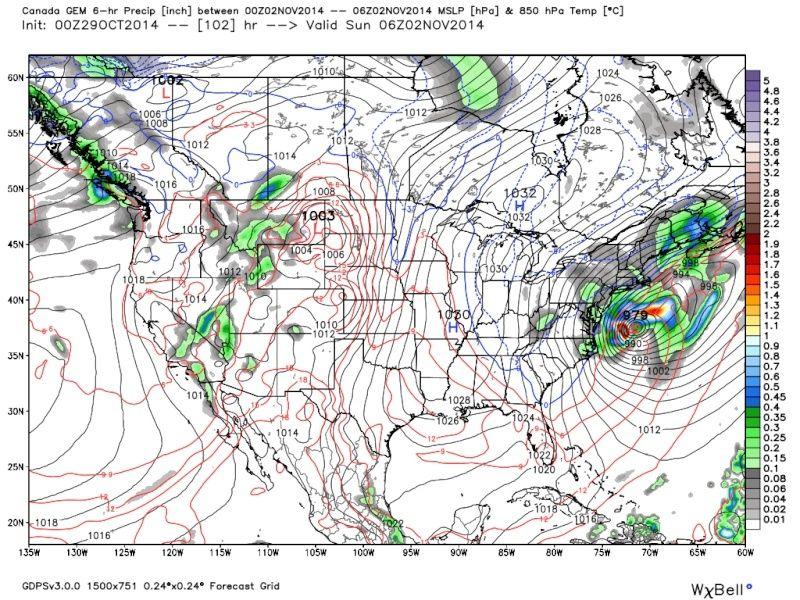Possible November 1st Coastal Storm Thread 1 - Page 3 Cmc_8510