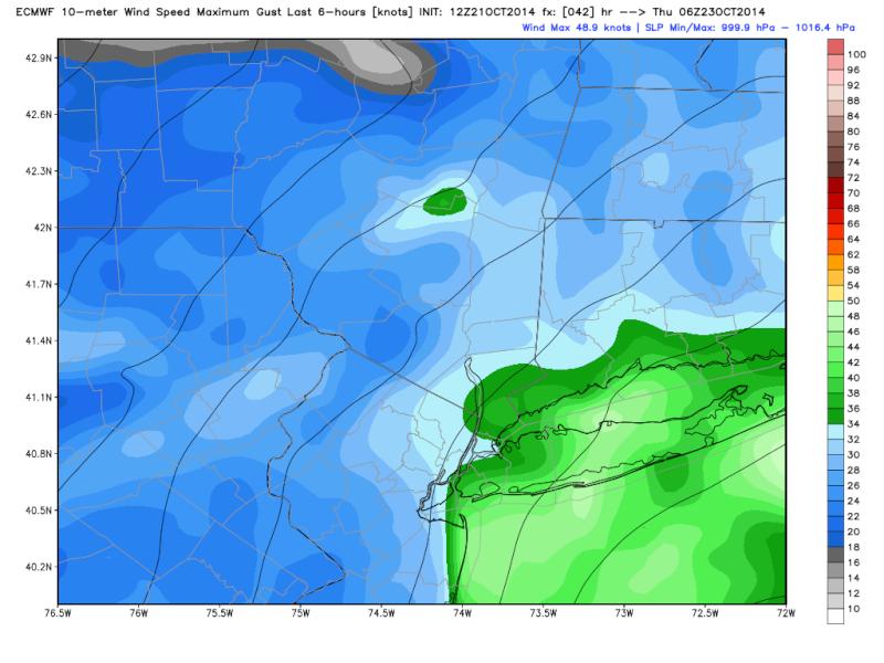Coastal Storm 10/22-10/23 Ecmwf_10