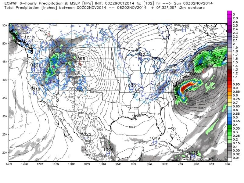 Possible November 1st Coastal Storm Thread 1 - Page 3 Euro_121