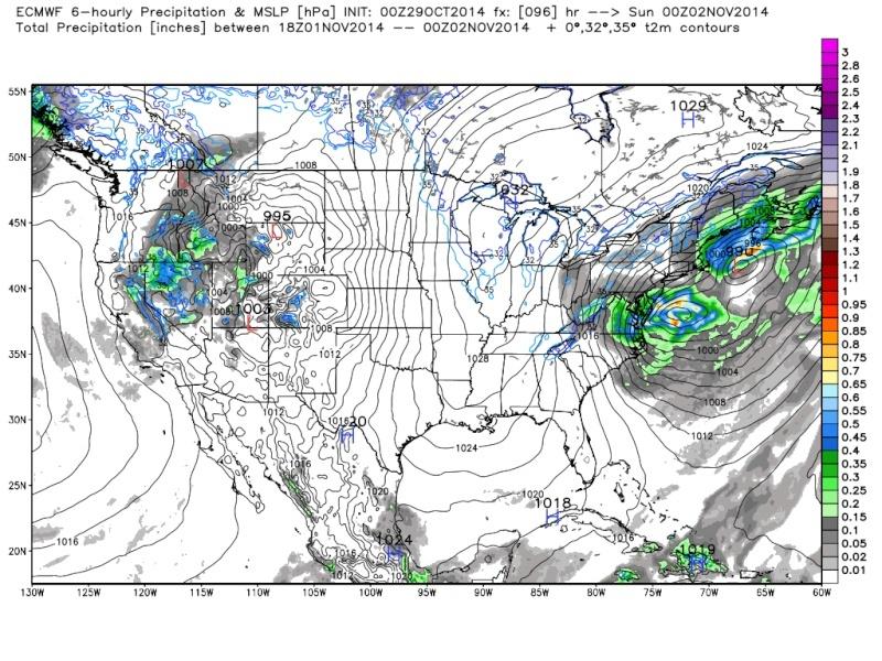 Possible November 1st Coastal Storm Thread 1 - Page 3 Euro_910