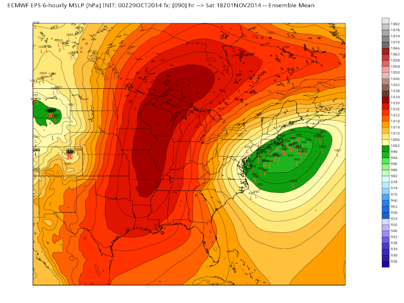 Possible November 1st Coastal Storm Thread 1 - Page 4 Euro_l10