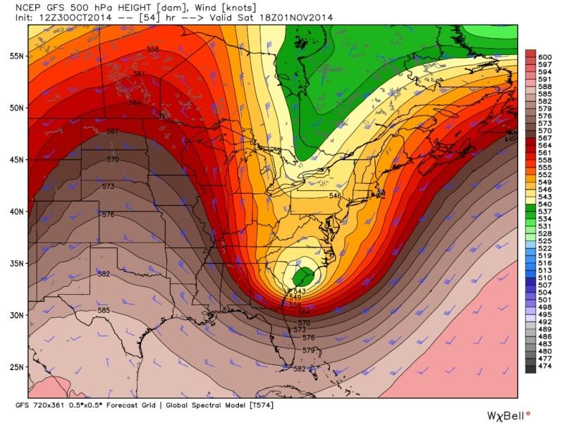 Possible November 1st Coastal Storm Thread 1 - Page 9 Gfs_5010