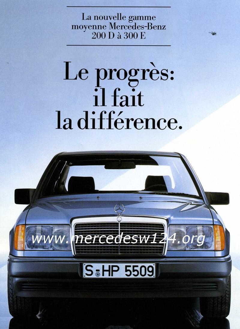 La nouvelle gamme moyenne Mercedes-Benz 200 D à 300 E 123