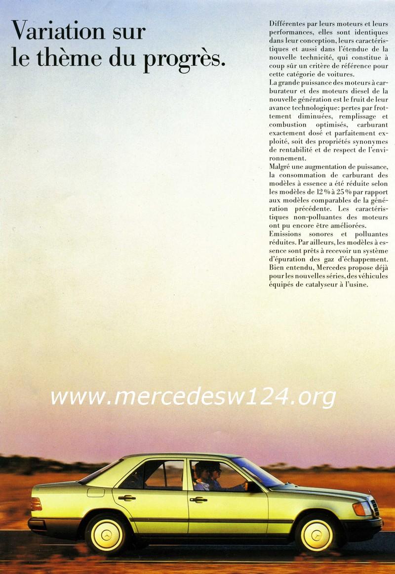 La nouvelle gamme moyenne Mercedes-Benz 200 D à 300 E 1510
