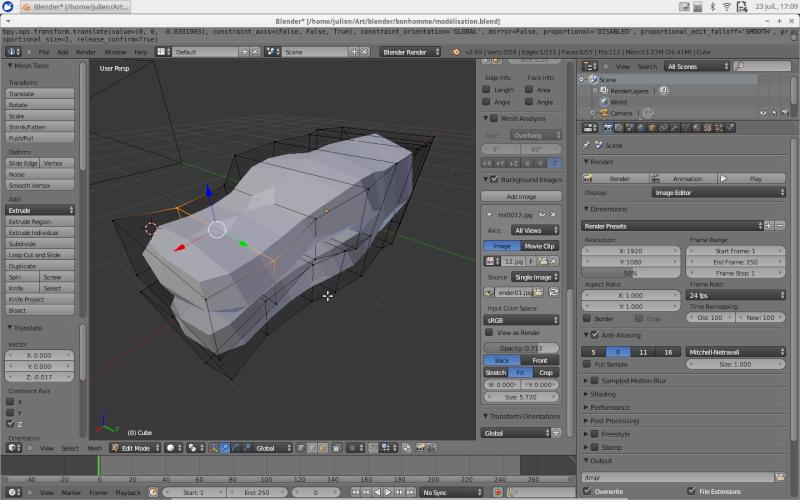 Création d'un personnage en 3D Renduf10