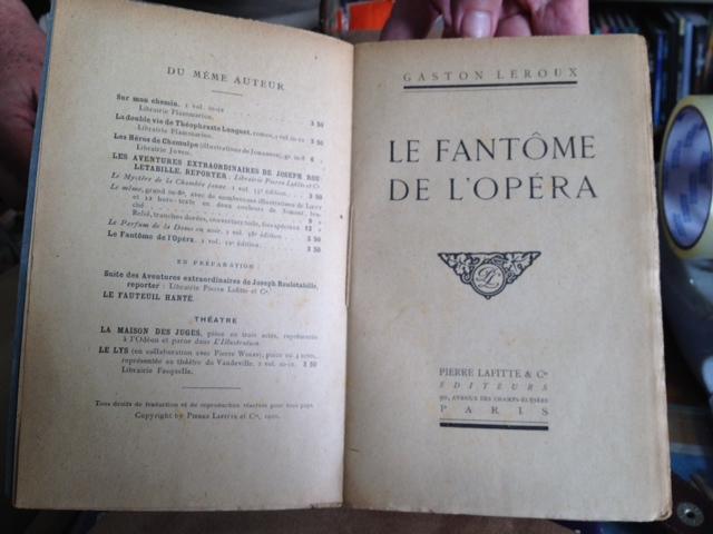 1st edition of Le Fantôme de l'Opéra Image_11