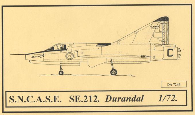 Sud-Aviation S.E. 212 DURANDAL , kit JFR Team au 1/72 Sncase10