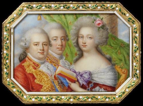 Portraits de Marie-Antoinette sur les boites et tabatières 2007br13